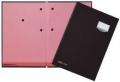 Unterschriftsmappen DE LUXE Leinen-Einband, mit 20 Fächern, rosa Löschkarton sch
