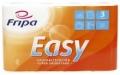 Haushaltsrollen Easy - 3-lagig, geprägt, hochweiß, 4 Rollen à 45 Blatt