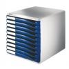 Schubladenboxen Formular-Set Schubladenboxen lichtgrau/blau
