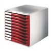 Schubladenboxen Formular-Set Schubladenboxen lichtgrau/rot