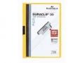 Klemm-Mappen DURACLIP® Original für bis zu 30 Blatt A4, Größe: 220x307 mm gelb