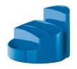 Schreibtischköcher RONDO - 9 Fächer, Gummifüße, Briefschlitz, New Colours blau