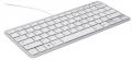 Ergonomische Compact Tastatur - weiß