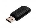 USB Stick 2.0 PinStripe - 128 GB, schwarz