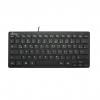 Tastatur kompakt - QWERTZ, schwarz