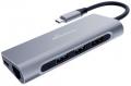 USB-Hub 1:6 silber