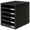 Schubladenboxen Schrank-Set schwarz/schwarz