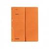 Ösenhefter halber Vorderdeckel, kaufmännische Heftung orange