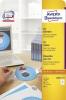 CD-Etiketten ClassicSize L6015-25 weiß