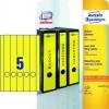 Ordnerrücken-Etiketten lange, schmale Schilder (38 x 297 mm) 100 Stück/20 gelb