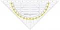 GEO-Dreieck ohne Griff, mattierte Beschriftungsfläche  160 mm