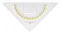 GEO-Dreiecke mit festem Griff 225 mm