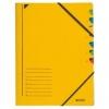 Ordnungsmappen mit 7 Fächern gelb
