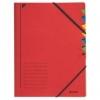 Ordnungsmappen mit 7 Fächern rot