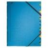 Ordnungsmappen mit 12 Fächern blau