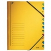 Ordnungsmappen mit 12 Fächern gelb