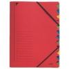 Ordnungsmappen mit 12 Fächern rot