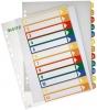 PC-beschriftbare Register A4 12 Blatt, Tabe 1-12