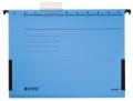 Hängetasche ALPHA® - seitlich mit Fröschen, Recyclingkarton, blau