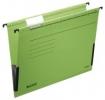 Hängetasche ALPHA® - seitlich mit Fröschen, Recyclingkarton, grün