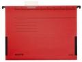 Hängetasche ALPHA® - seitlich mit Fröschen, Recyclingkarton, rot