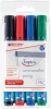 380 Flipchartmarker - nachfüllbar, ca. 1,5 - 3 mm, 4 Farben, Etui