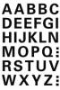 4163 Buchstaben-Etiketten - A-Z, 15 mm, wetterfest, schwarz