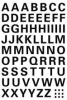 4158 Buchstaben-Etiketten - A-Z, 10 mm, wetterfest, schwarz