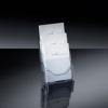 Tisch-Prospekthalter acrylic Tisch-Prospekthalter mit 3 Fächer 3 x A5