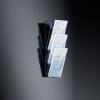 Wand-Prospekthalter acrylic Wand-Prospekthalter mit 3 Fächer 3 x DIN lang