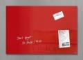 Glas-Magnetboard artverum® - rot, 60 x 40 cm