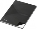 Notizbuch - A4, Hardcover, kariert, 96 Blatt, schwarz