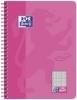 Collegeblock Touch - B5, 80 Blatt, 90 g/qm, kariert, rosa