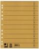 Trennblätter, durchgefärbt 100 Stück gelb