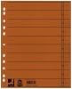 Trennblätter, durchgefärbt 100 Stück orange
