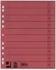 Trennblätter, durchgefärbt 100 Stück rot