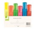 Textmarker Etui mit 6 Farben: gelb, pink, orange, grün, blau, rot