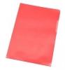 Sichthüllen A4 genarbt rot, 100 Stück