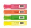 Textmarker Etui mit 4 Farben: gelb, grün, orange, rosa