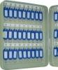Schlüsselschränke Pearl grey 54 Haken 300 x 60 x 240 mm