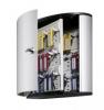 Schlüsselkästen KEY BOX Mit Zylinderschloss und Panel 36 Haken 302 x 118 x 280 mm