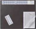 Schreibunterlage mit Jahreskalender schwarz