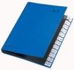 Pultordner Color-Einband Tabe A - Z, 24 Fächer blau