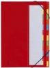Deskorganizer mit 7 Fächern rot