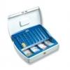 Geldzählkassetten Office Größe (B x T x H): 255 x 200 x 75 mm weiß/blau