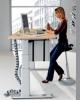 Welle Möbel Arbeitstisch 2 UP&DOWN elektrisch höhenverstellbar, 120 B x 80 T x 69 - 115 H cm Ahorn