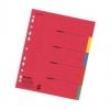 Register aus Karton, Überbreite A4 5 Blatt, Tabe 5-farbig