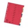 Register aus Karton, Überbreite A4 12 Blatt, 2x 6-farbig