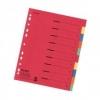 Register aus Karton, Überbreite A4 10 Blatt, 2x 5-farbig