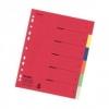 Register aus Karton, Überbreite A4 6 Blatt, Tabe 6-farbig